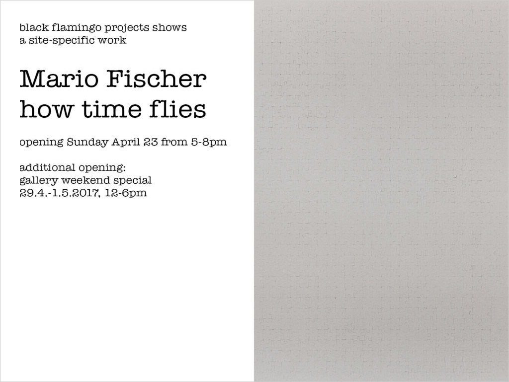Mario Fischer - how time flies-invitation-1